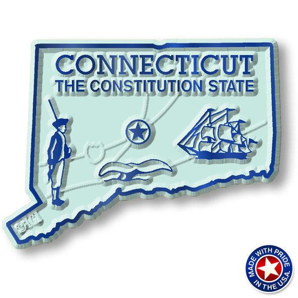 Connecticut Map Magnet