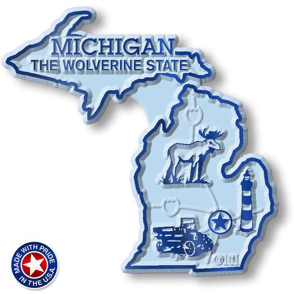 Michigan Map Magnet