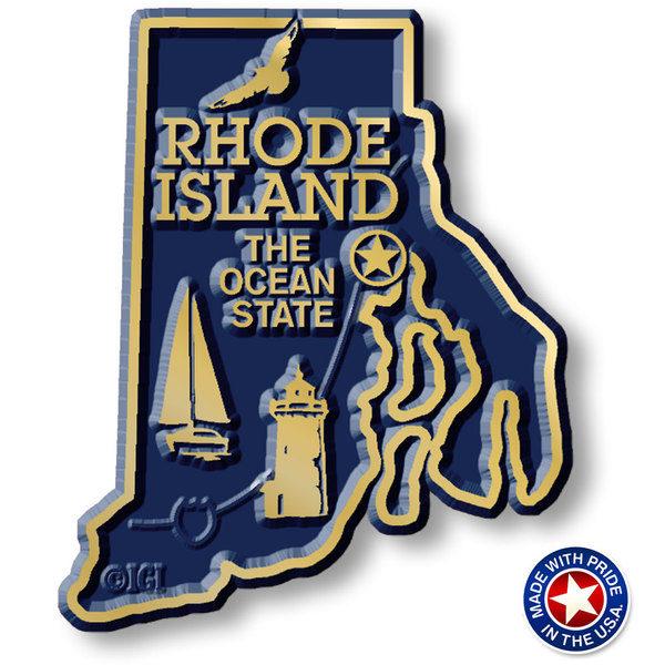 Rhode Island Map Magnet