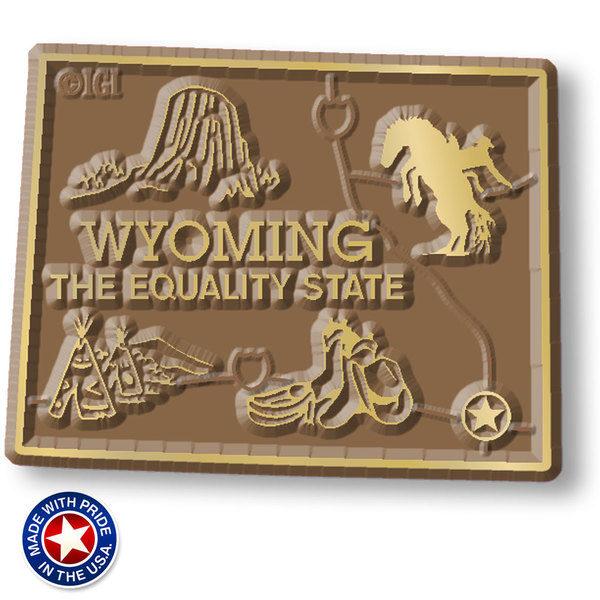 Wyoming Map Magnet