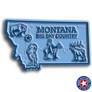 Montana Map Magnet